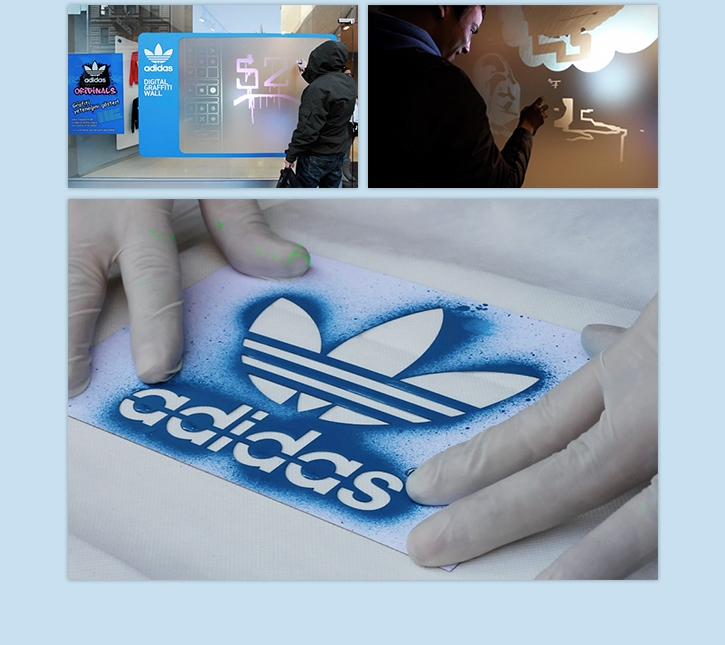 Adidas Digital Graffiti Wall